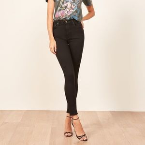 Reformation High & Skinny Jean (Black)